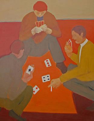 Painting - 5 Card Stud by Renee Kahn