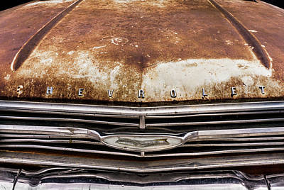 Auto Insignia Photograph - 50s Chevrolet Front End by Jim Hughes