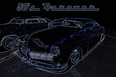 Lowrider Digital Art - 50's Forever by Darrell Foster