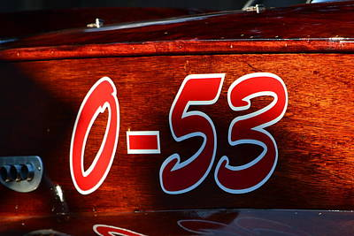 Photograph - 50's Race Boat by Dean Ferreira