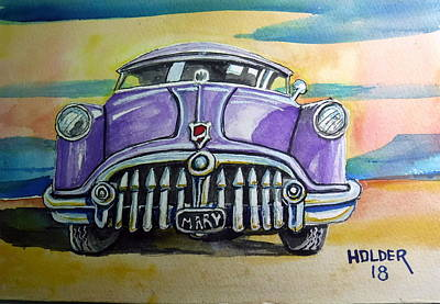 Painting - 51 Buick by Steven Holder