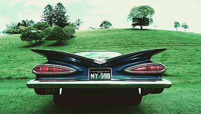 Photograph - 59 Chevy Fins by Pixabay