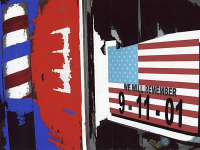 Keith Richards - 9-11-01 Sign Barber Shop Eloy Arizona 2005 Color Added 2008 by David Lee Guss