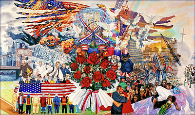 9 11 01 Painting - 9/11 Memorial by Bonnie Siracusa