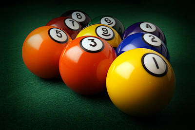 Abstract Royalty-Free and Rights-Managed Images - 9 Ball Rack by David G Paul