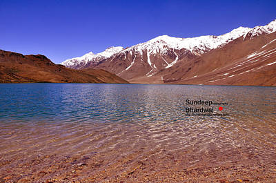 Photograph - A Beautiful Lake On Himalayas Of Unforgetable Himachal In Incredible IIndia by Sundeep Bhardwaj Kullu sundeepkulluDOTcom