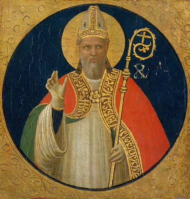 Saint Painting - A Bishop Saint by Fra Angelico