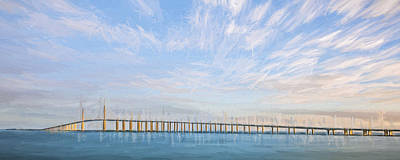 Tampa Digital Art - A Bridge Moves II by Jon Glaser