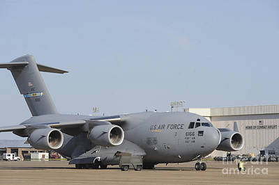 A C-17 Globemaster IIi Parked Art Print by Stocktrek Images