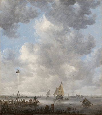 Angling Painting - A Calm by Jan van Goyen