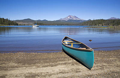 Transportation Royalty-Free and Rights-Managed Images - A Canoe On Elk Lake by Buddy Mays