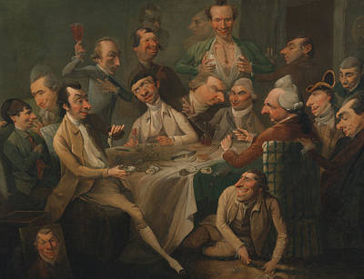 Painting - A Caricature Group by John Hamilton Mortimer