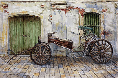 A Carriage On Crisologo Street 2 Art Print