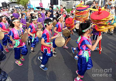 Photograph - A Children Percussion Group by Yali Shi