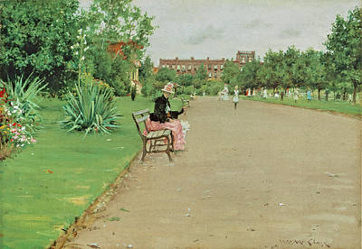 Photograph - A City Park by William Merritt Chase