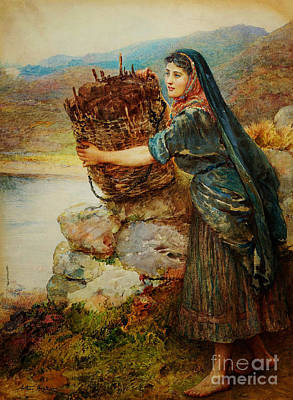 A Connemara Girl Art Print by Celestial Images