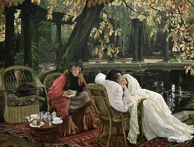 Photograph - A Convalescent  by James Jacques Joseph Tissot