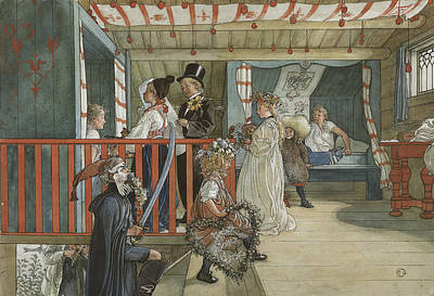 Painting - A Day Of Celebration - From A Home by Carl Larsson