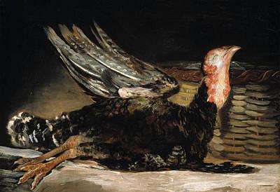 Turkey Painting - A Dead Turkey by Francisco Goya