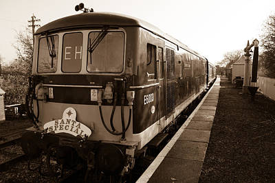 Swindon Photograph - A Diesel Engine At Swindon And Cricklade Railway by Steven Sexton