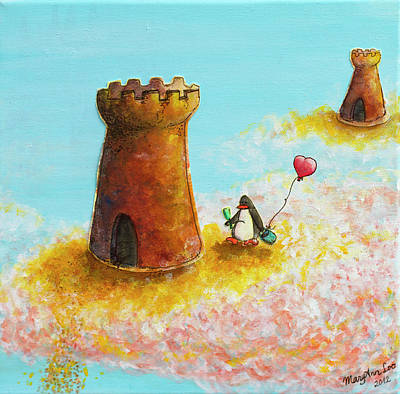 Castles In The Sand Painting - A Dreamer's New Home by MaryAnn Loo
