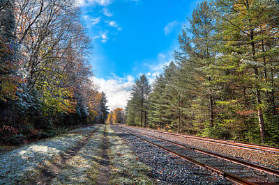 A Dusting Of Snow On The Tracks Art Print