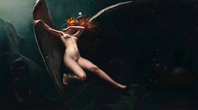 Painting - A Fairy Under Starry Skies by Luis Ricardo Falero