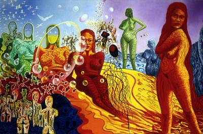 Painting - A Feminine Day In A Masculine Dreamer's Night by Genio GgXpress