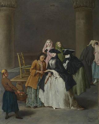 A Fortune Teller At Venice Art Print