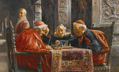 A Game Of Chess Art Print by Jose Gallegos