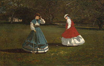 Masters Winners Painting - A Game Of Croquet by Winslow Homer