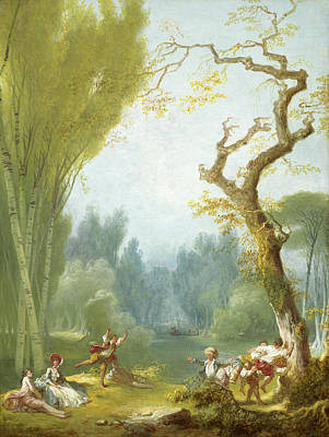 Painting - A Game Of Horse And Rider by Jean-Honore Fragonard