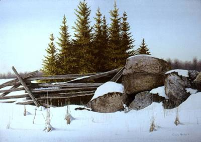 Egg Tempera Painting - A Gentle Winter Breeze by Conrad Mieschke