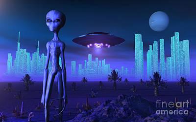 A Grey Alien Located On Its Homeworld Art Print