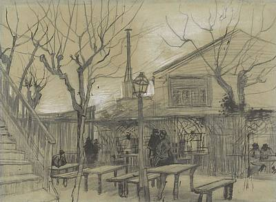 Painting - A Guinguette Paris, February - March 1887 Vincent Van Gogh 1853 - 1890 by Artistic Panda