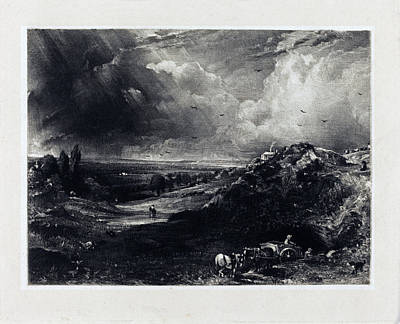 Painting - A Heath by David Lucas after John Constable