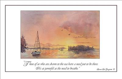 Ocean Sunset Painting - A Hingham Sunset by Laura Lee Zanghetti