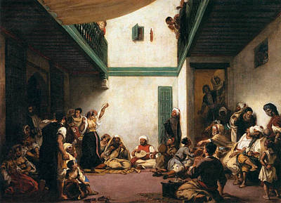 A Jewish Wedding In Morocco Art Print by Eugene Delacroix