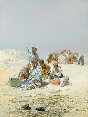 Summer Painting - A Kirghiz Gathering by MotionAge Designs