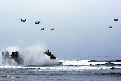Us Navy Aircraft Painting - A Landing Craft Air Cushion by Celestial Images