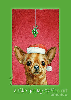 Painting - A Little Holiday Spirit... by Will Bullas