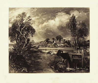 Painting - A Lock On The Stour by David Lucas after John Constable