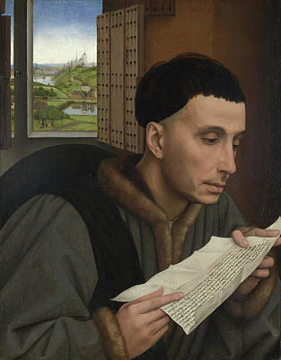 Pasture Painting - A Man Reading by Rogier van der Weyden