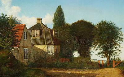 Painting - A Mansion Near Oresund by Christen Kobke