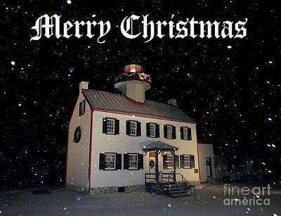 Photograph - A Merry Christmas At East Point Lighthouse  by Nancy Patterson