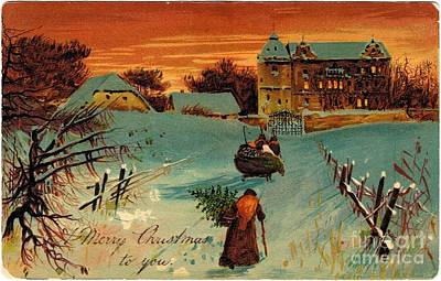 Painting - A Merry Christmas To You Vintage by R Muirhead Art
