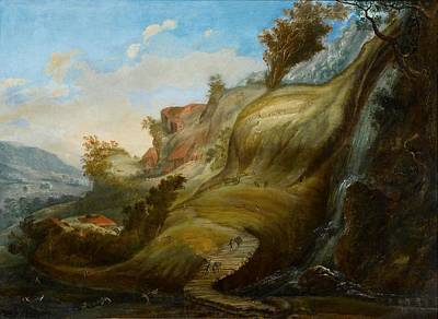 Seventeenth Century Painting - A Mimetic Landscape by MotionAge Designs