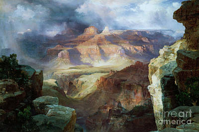 Canyons Painting - A Miracle Of Nature by Thomas Moran