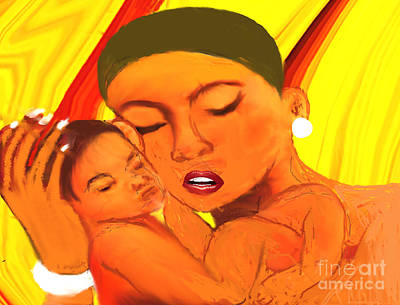 Painting - A Mother's Love Is Special by Belinda Threeths
