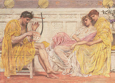 Moore Painting - A Musician by Albert Joseph Moore
